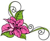 粉红色的花旋流角架 — 图库矢量图片