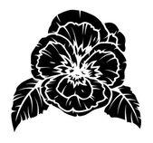 Poppy Flower Silhouette — Stock Vector