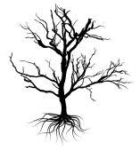 Svart döda trädet Design — Stockvektor