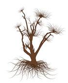 Dead Tree Vector Element — Vector de stock