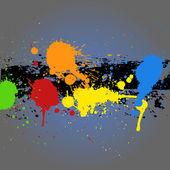 Painting Splash Grunge Background — Stock Vector