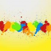 Grunge Colorful Stains Background — 图库矢量图片