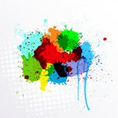 Abstract Colorful Splashes Vector — Vettoriale Stock