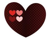 Retro Herz Hintergrund — Stockvektor