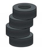 Tyres Vector — Stock vektor