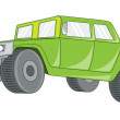 Ancient Jeep — Stock Vector #64551155