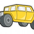 Yellow Ancient Jeep — Stock Vector #64551419