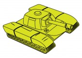 Yellow Tank Vector — Stok Vektör