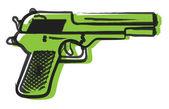 Retro Gun Drawing — Stock Vector