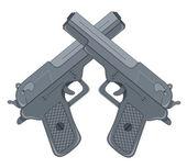 Cross Guns — Stockvector