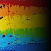 Dirty Rainbow Paint Splash Vector Background — Vector de stock