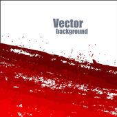 Grunge Red Splash Banner Vector — Stock Vector