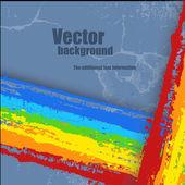 Гранж Радуга всплеск полосатый баннер — Cтоковый вектор