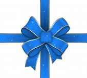 Decorative Sparkles Ribbon Bow — Stock Vector