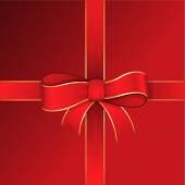 Christmas Gift Ribbon Bow Frame — Stock Vector