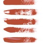 Red Grunge Strokes Vectors — Stock Vector #64716161