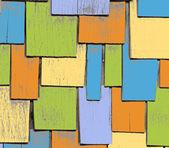 Färgglada Grunge trä mönster — Stockvektor