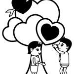 Love Tree Retro Cartoon Character — Stock Vector #64785543