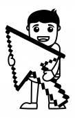 Pixel Arrow - Vector Illustration — Vector de stock