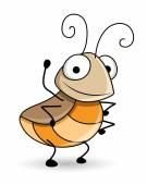Happy Cartoon Bug Insect — Stock Vector
