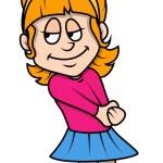 Shy Cartoon Girl — Stock Vector #70026237