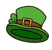 Cartoon Leprechaun Hat — Stock Vector