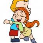 Cartoon Kid Couple — Stock Vector #70032169