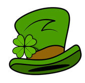 Cartoon Leprechaun Hat Vector — Vector de stock