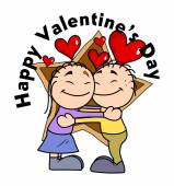 Cute Happy Cartoon Couple - Valentine Concept — Cтоковый вектор