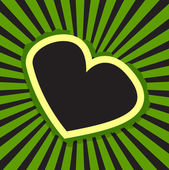 Retro Heart Banner Background — Stock Vector