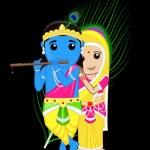 Radha Krishna - Indian Gods — Stock Vector #76683495
