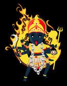 Goddess of Time, Change, Power and Destruction - Maa Kali — Stock Vector