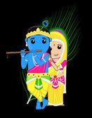 Radha Krishna - Indian Gods — Stock Vector