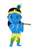 Shri Krishna Janmashtami - Indian Mythology God — Stockvector