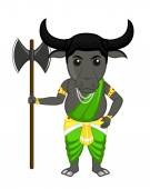 Buffalo - Hindu Mythological God — Stockvektor