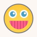 Cheerful Smile - Cartoon Smiley Vector Face — Stock Vector #77009645