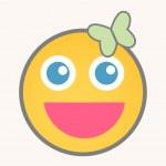 Cheerful - Cartoon Smiley Vector Face — Stock Vector #77009675