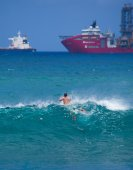 Bodyboarding off the coast of Gran Canaria — Stock Photo