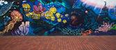 Las Palmas de Gran Canaria street art — Stock Photo