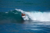 Bodyboarding off the coast of Gran Canaria — Stock Photo