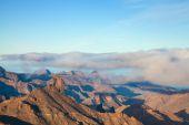 Gran Canaria, Caldera de Tejeda, morning light, sunrise — Stock Photo