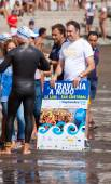 13 September 2014, Gran Canaria, sea swim — Stock Photo
