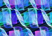 Seamless repeatable fractal pattern — Stock Photo