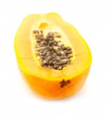 Papaya fuit isolated on white backgound — 图库照片