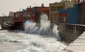 San Cristobal, a seaside fishing district on the outskirts of La — Stock Photo