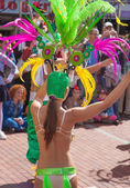 Las Palmas de Gran Canaria Beach carnival 2015 parade on the Las — Stock Photo
