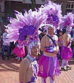 Las Palmas de Gran Canaria Beach carnival 2015 parade on the Las — 图库照片