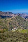 Gran Canaria, view from Cruz de Tejeda towards Roque Bentayga — Stock Photo