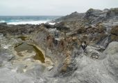 Gran Canaria, north west coast at Banaderos area, old lava field — Stock Photo
