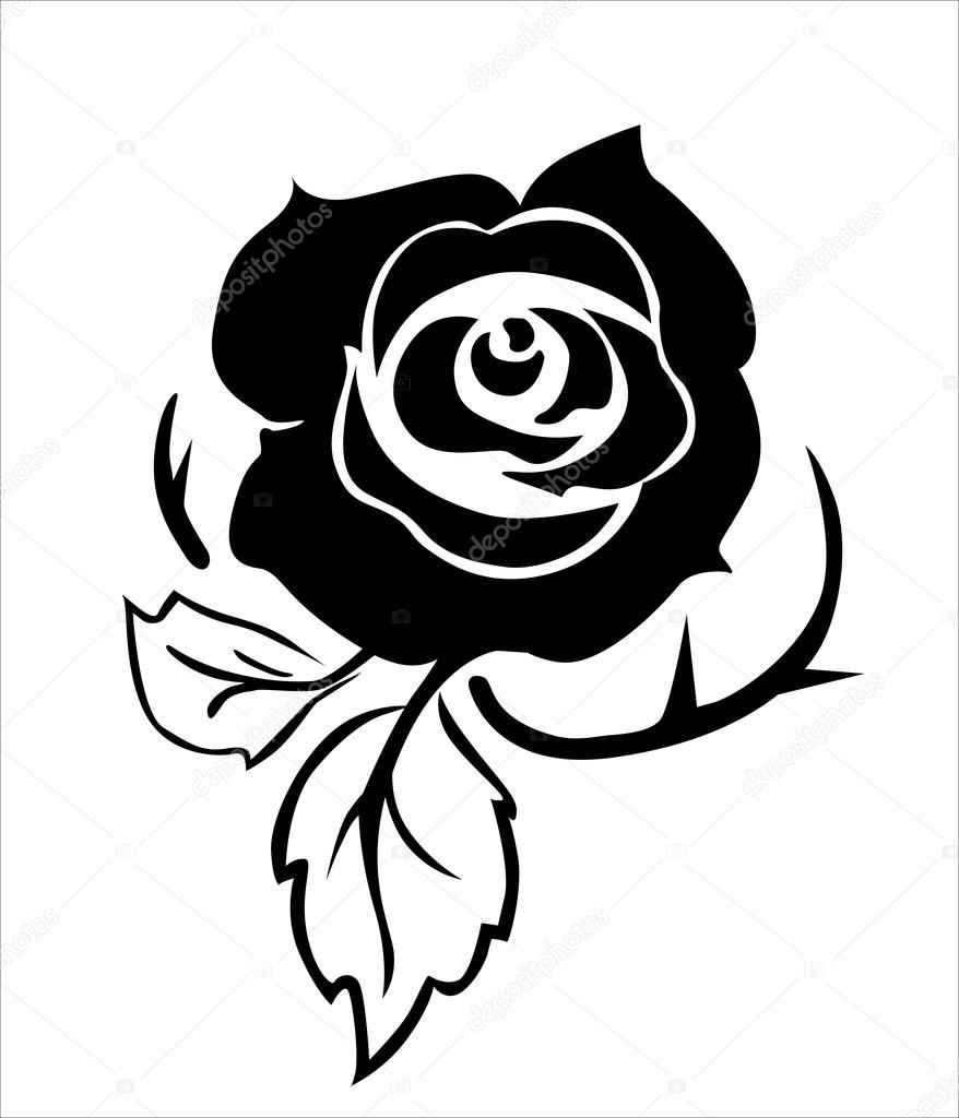 Rose tattoo — Stock Vector © Navsekaya #65874661